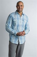 Exofficio Men's BA Sol Cool Plaid L/S שלדג מחנאות וספורט