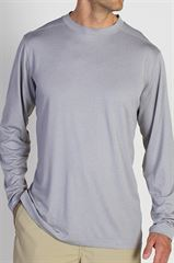 Exofficio Men's BugsAway Impervio Crew L/S Shirt שלדג מחנאות וספורט